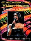 Keyboard music books of Whitney Houston Songs with tune melody line and chord diagrams for each song